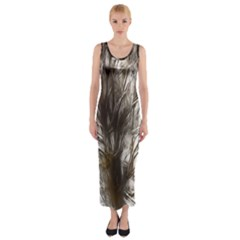 Tree Art Artistic Tree Abstract Background Fitted Maxi Dress