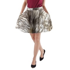 Tree Art Artistic Tree Abstract Background A-Line Pocket Skirt