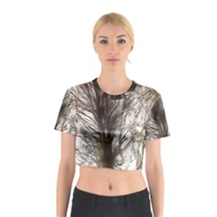 Tree Art Artistic Tree Abstract Background Cotton Crop Top