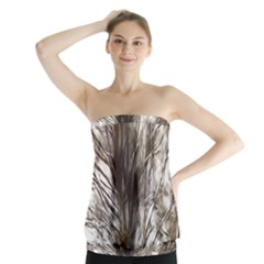 Tree Art Artistic Tree Abstract Background Strapless Top