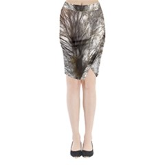 Tree Art Artistic Tree Abstract Background Midi Wrap Pencil Skirt