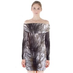 Tree Art Artistic Tree Abstract Background Long Sleeve Off Shoulder Dress
