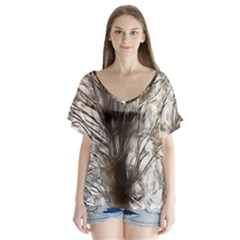 Tree Art Artistic Tree Abstract Background Flutter Sleeve Top