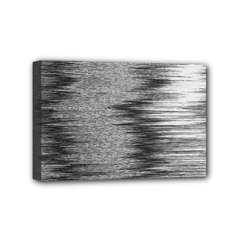 Rectangle Abstract Background Black And White In Rectangle Shape Mini Canvas 6  X 4