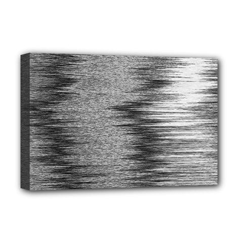 Rectangle Abstract Background Black And White In Rectangle Shape Deluxe Canvas 18  X 12