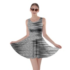 Rectangle Abstract Background Black And White In Rectangle Shape Skater Dress