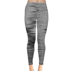 Rectangle Abstract Background Black And White In Rectangle Shape Leggings