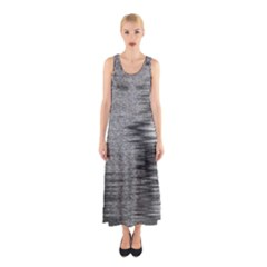Rectangle Abstract Background Black And White In Rectangle Shape Sleeveless Maxi Dress