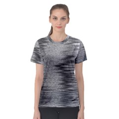 Rectangle Abstract Background Black And White In Rectangle Shape Women s Sport Mesh Tee