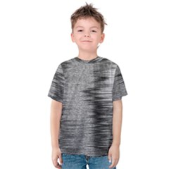 Rectangle Abstract Background Black And White In Rectangle Shape Kids  Cotton Tee