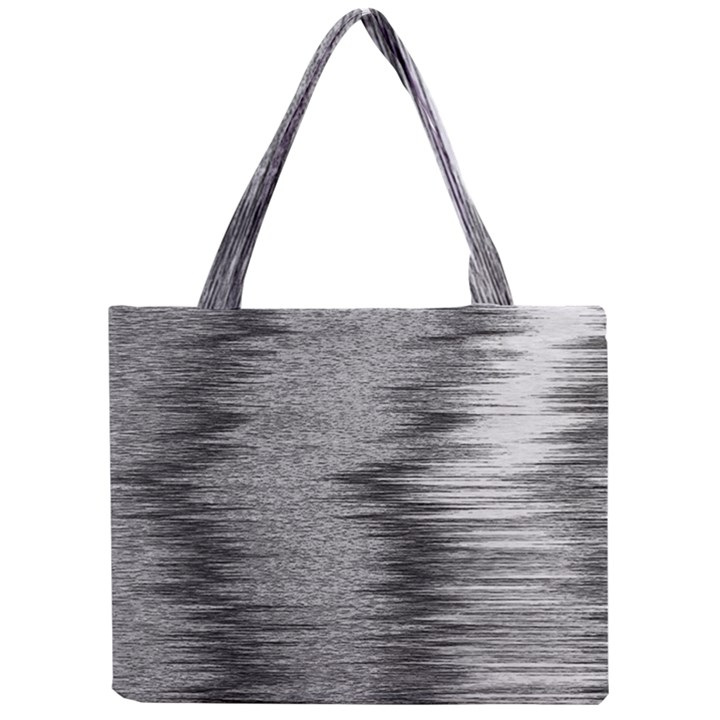 Rectangle Abstract Background Black And White In Rectangle Shape Mini Tote Bag