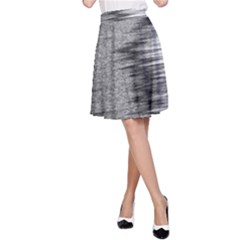 Rectangle Abstract Background Black And White In Rectangle Shape A-Line Skirt