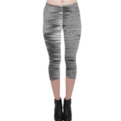 Rectangle Abstract Background Black And White In Rectangle Shape Capri Leggings