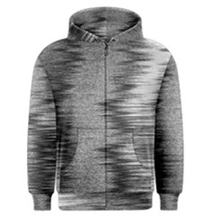Rectangle Abstract Background Black And White In Rectangle Shape Men s Zipper Hoodie