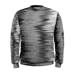 Rectangle Abstract Background Black And White In Rectangle Shape Men s Sweatshirt