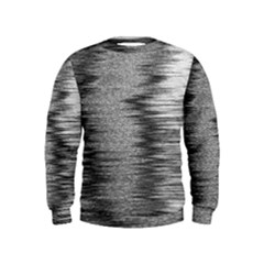 Rectangle Abstract Background Black And White In Rectangle Shape Kids  Sweatshirt