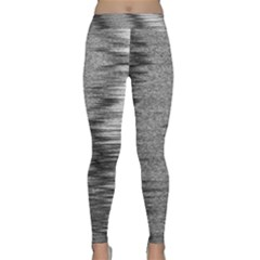 Rectangle Abstract Background Black And White In Rectangle Shape Classic Yoga Leggings