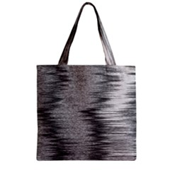 Rectangle Abstract Background Black And White In Rectangle Shape Zipper Grocery Tote Bag