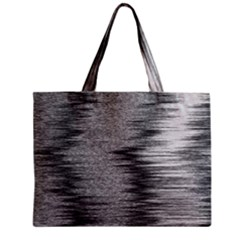 Rectangle Abstract Background Black And White In Rectangle Shape Zipper Mini Tote Bag