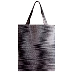 Rectangle Abstract Background Black And White In Rectangle Shape Zipper Classic Tote Bag