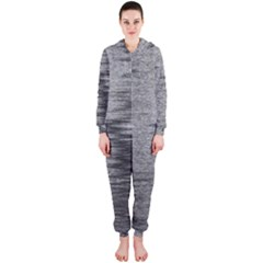 Rectangle Abstract Background Black And White In Rectangle Shape Hooded Jumpsuit (ladies)