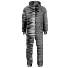 Rectangle Abstract Background Black And White In Rectangle Shape Hooded Jumpsuit (Men)