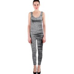 Rectangle Abstract Background Black And White In Rectangle Shape Onepiece Catsuit