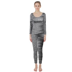 Rectangle Abstract Background Black And White In Rectangle Shape Long Sleeve Catsuit