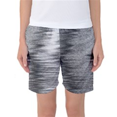Rectangle Abstract Background Black And White In Rectangle Shape Women s Basketball Shorts