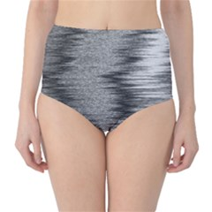 Rectangle Abstract Background Black And White In Rectangle Shape High-Waist Bikini Bottoms