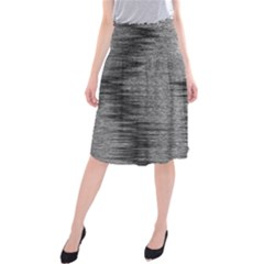 Rectangle Abstract Background Black And White In Rectangle Shape Midi Beach Skirt