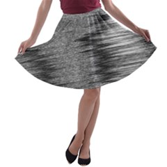 Rectangle Abstract Background Black And White In Rectangle Shape A-line Skater Skirt
