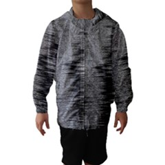 Rectangle Abstract Background Black And White In Rectangle Shape Hooded Wind Breaker (Kids)