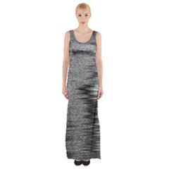 Rectangle Abstract Background Black And White In Rectangle Shape Maxi Thigh Split Dress