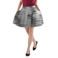 Rectangle Abstract Background Black And White In Rectangle Shape A-Line Pocket Skirt