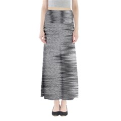 Rectangle Abstract Background Black And White In Rectangle Shape Maxi Skirts
