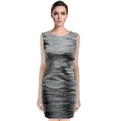 Rectangle Abstract Background Black And White In Rectangle Shape Classic Sleeveless Midi Dress