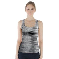 Rectangle Abstract Background Black And White In Rectangle Shape Racer Back Sports Top