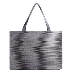 Rectangle Abstract Background Black And White In Rectangle Shape Medium Tote Bag