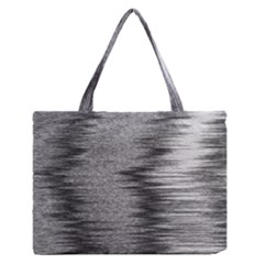 Rectangle Abstract Background Black And White In Rectangle Shape Medium Zipper Tote Bag
