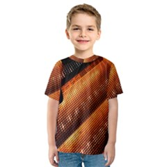Magic Steps Stair With Light In The Dark Kids  Sport Mesh Tee