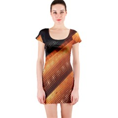 Magic Steps Stair With Light In The Dark Short Sleeve Bodycon Dress