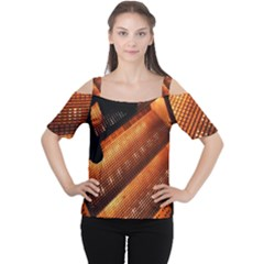 Magic Steps Stair With Light In The Dark Women s Cutout Shoulder Tee