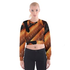 Magic Steps Stair With Light In The Dark Women s Cropped Sweatshirt
