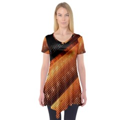 Magic Steps Stair With Light In The Dark Short Sleeve Tunic