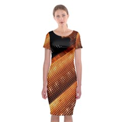 Magic Steps Stair With Light In The Dark Classic Short Sleeve Midi Dress