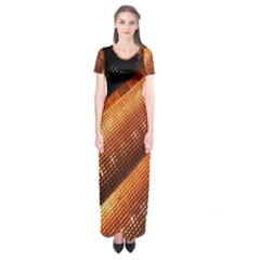 Magic Steps Stair With Light In The Dark Short Sleeve Maxi Dress