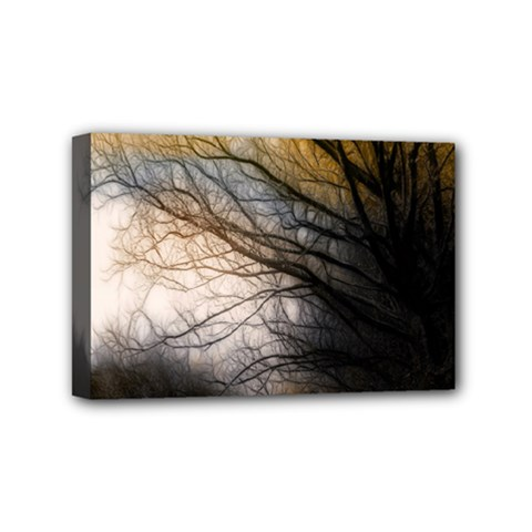 Tree Art Artistic Abstract Background Mini Canvas 6  x 4