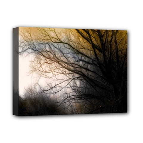 Tree Art Artistic Abstract Background Deluxe Canvas 16  x 12