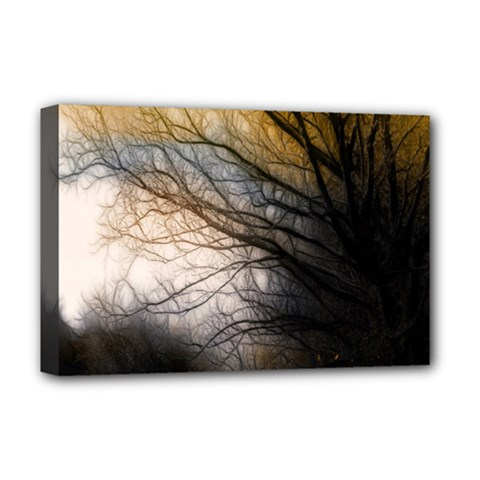 Tree Art Artistic Abstract Background Deluxe Canvas 18  x 12